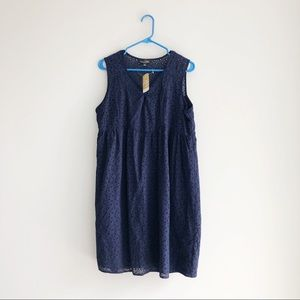 Suzanne Betro | NWT Navy Sleeveless Tunic Dress